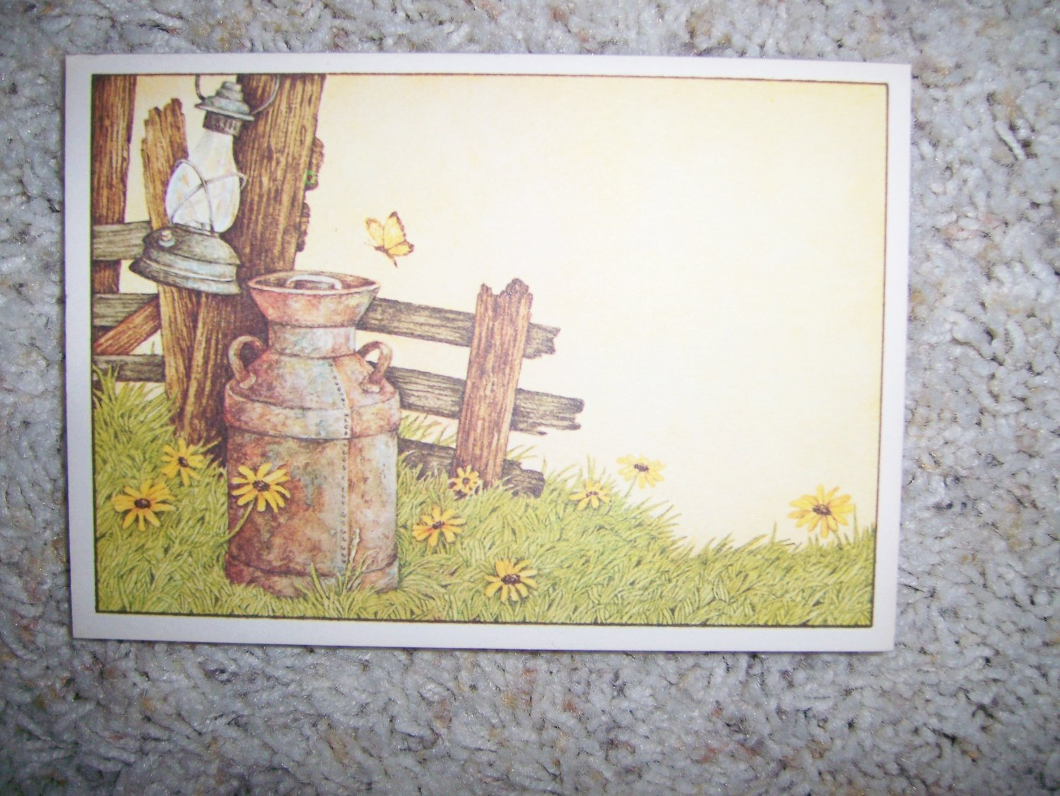 Post Cards Decorated With Old Style Milk Can BNK298