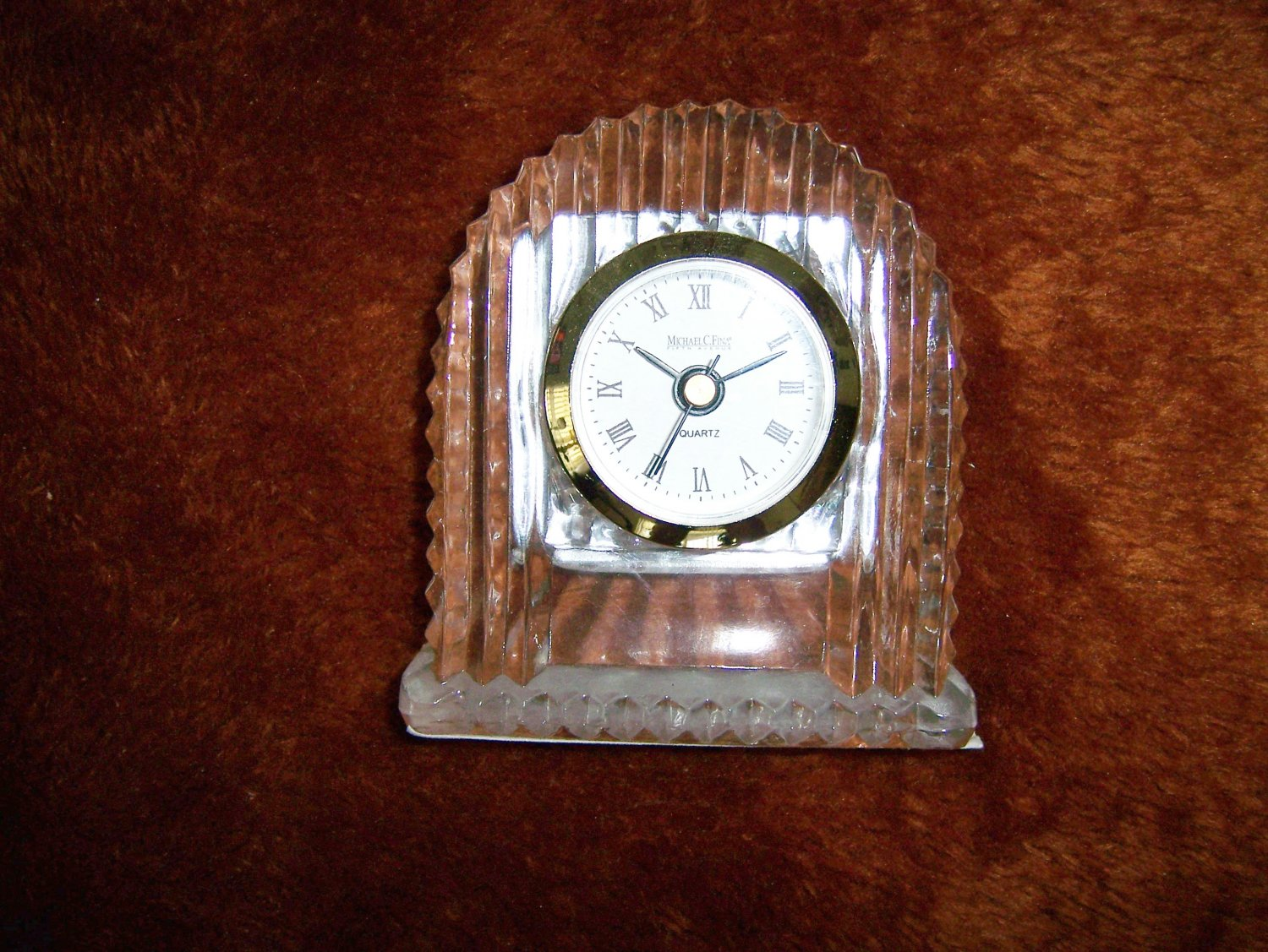 Desk Top Crystal Clock Battery Operated BNK299