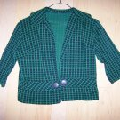 Ladies Jacket Size 10 Green/Black BNK325