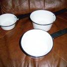Enamel Pans Set Of Three BNK352