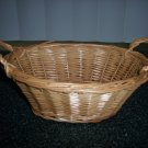 Tan Basket w 2 Handles 9x6x4 BNK397