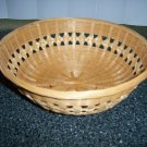 "Tan 9""x3"" Round Wicker Serve basket BNK398"