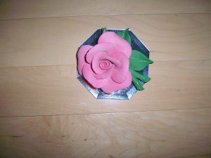 """Rose On Mirror 5""""x4"""" Beautiful Display BNK477"""