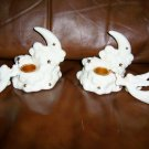Candle Holders Pair Porcelain  BNK485