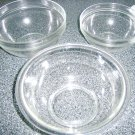 "Set Of Three Pyrex Bowls 9""  8""  & 7""  All 4"" Deep BNK505"