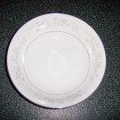 Fine China Serving Bowl w Platinum Rose Design BNK514