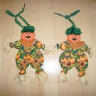 Pumkin Scarecrow Dolls Flexible w Hanging Strap BNK573