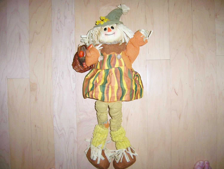 Lady Scarecrow Halloween & Thanksgiving Greeter  BNK574