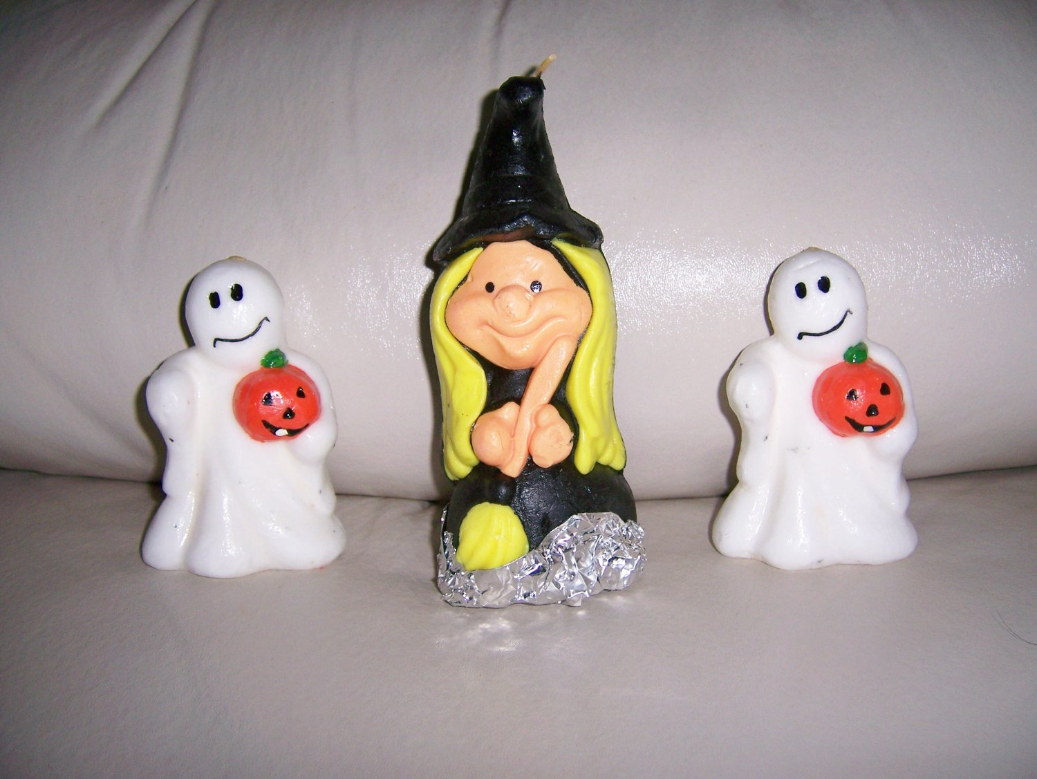 Witch & 2 Ghosts Halloween & Thanksgiving Candles  BNK579