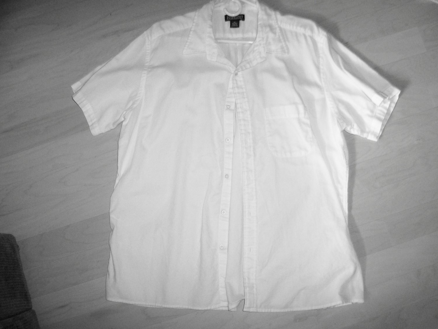 Men's White Short Sleeve Shirt by Lands End BNK596