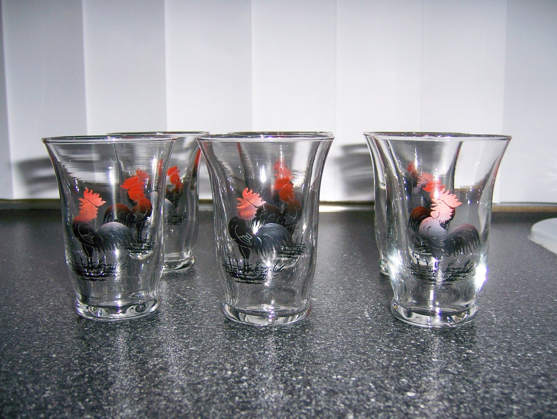 Juice/Shot Glasses Roasteer Design Set Of 6  BNK646