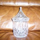 Decorative Glass Candy/Nut Bowl w Peaked Cover BNK655