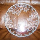 Serving Plate 10&quot; Glass Flowers Designs BNK659