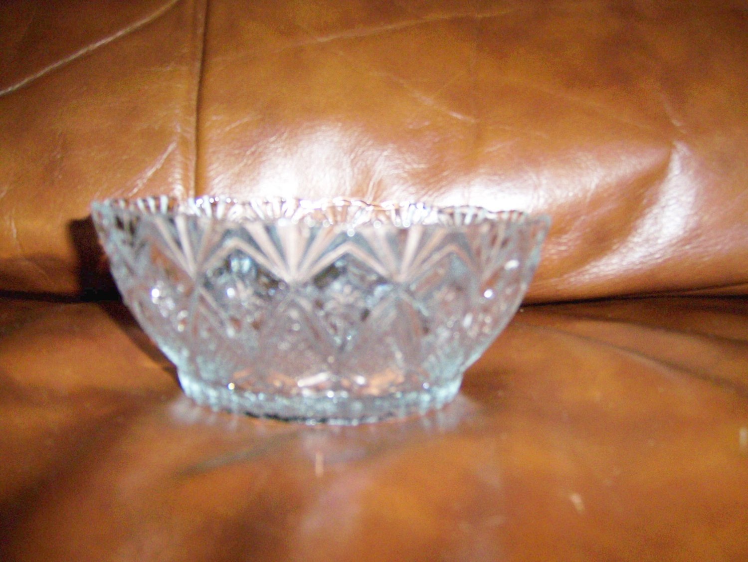 Decorated Glass Serving Bowl BNK669