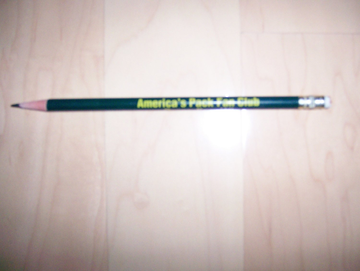 "Packers #2 Pencil 7"" w Eraser & Logo BNK681"