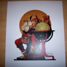 Norman Rockwell's Print Santa Planning His Visit BNK