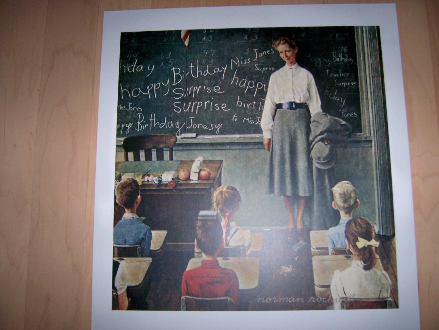 Norman Rockwell's Happy Birthday Miss Jones  BNK727