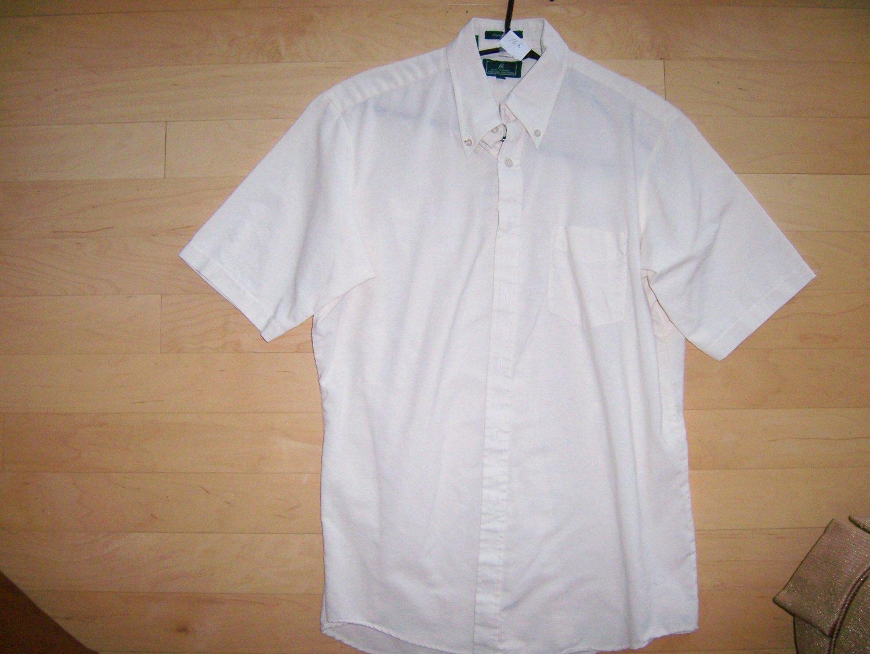 Men's Shirt by Aldo Romano Cream Short Sleeve BNK764