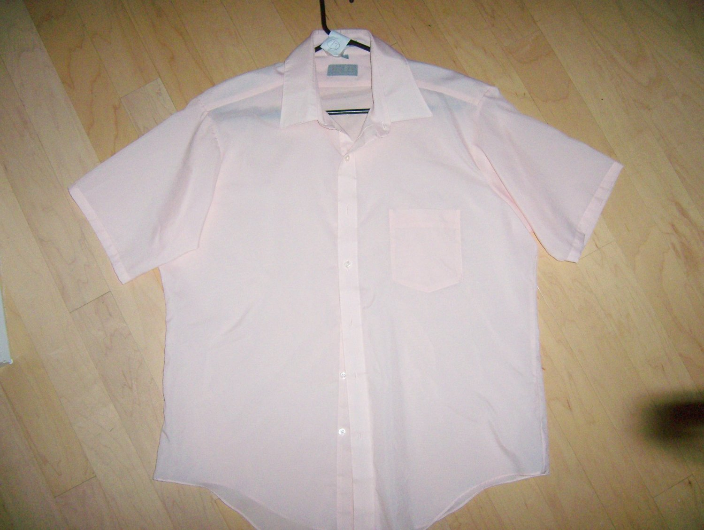 Men's Short Sleeve Shirt Pink 17 BNK765