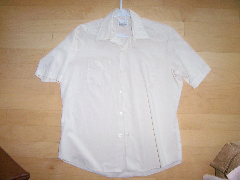 Men's Short Sleeve Shirt Yellow By Wards BNK766