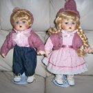 "Jack & Jill Porceleon Dolls 10"" BNK854"