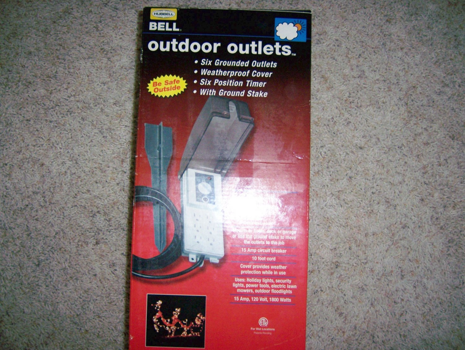 Out Door Outlets Hubell/Bell WeatherProof Grounded BNK901