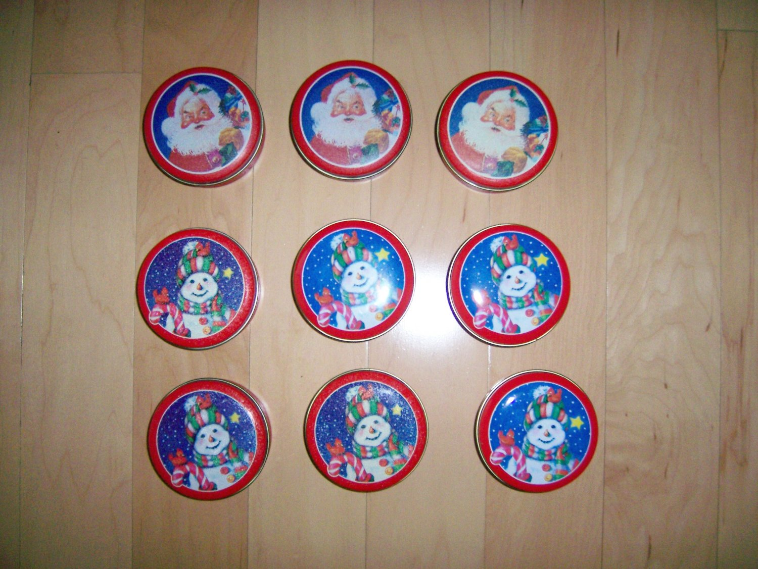 """Metal Tins 3"""" For Sending/Serving/Place Markers BNK903"""