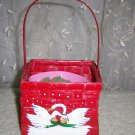 Red Basket With Swans Also Plant Insert  BNK914