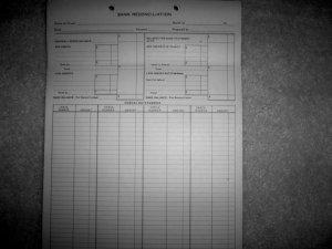 Bank Reconciliation Sheets  BNK918