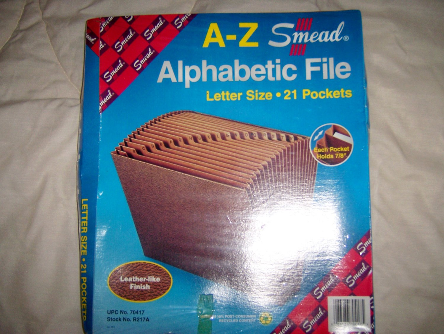 A-Z Alphabetic File Leather Look 21 Pockets BNK920