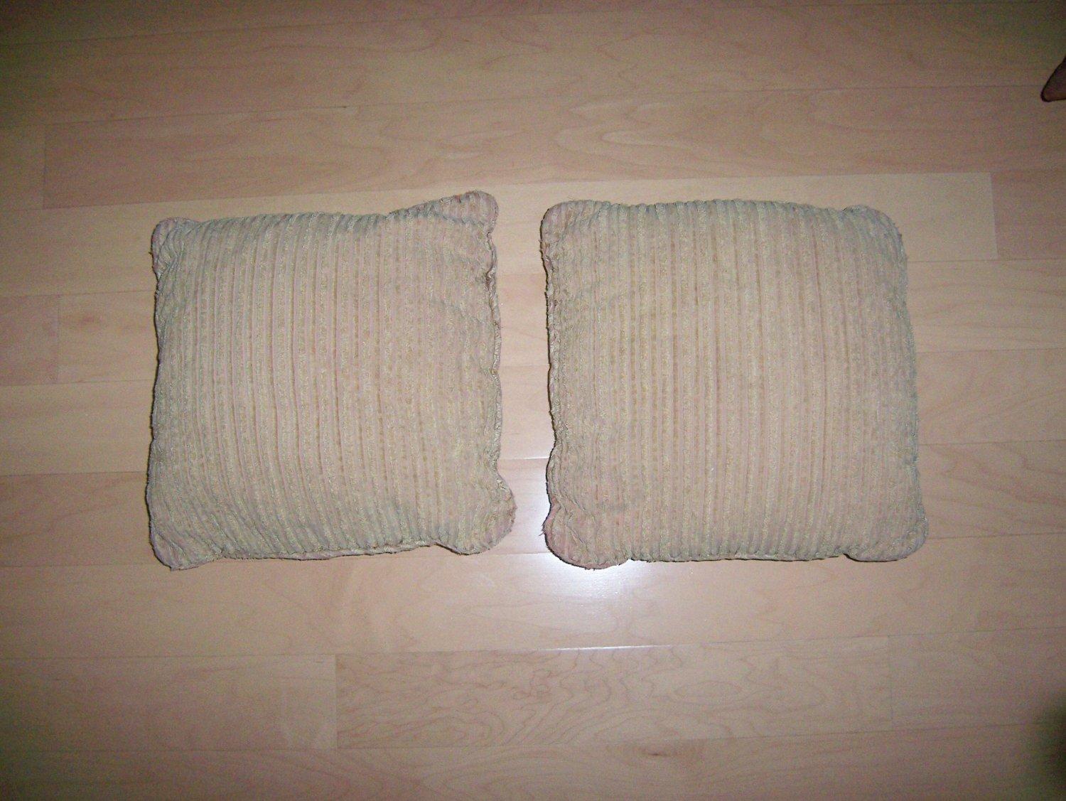 """Pillows Set Of Two Tan 12""""  BNK926"""