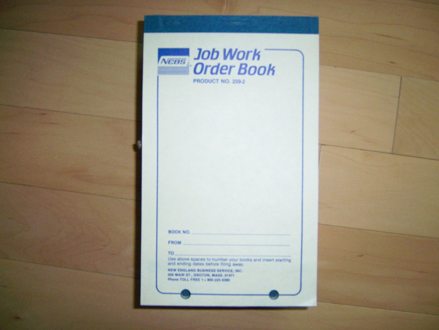 Job/Work Order Padded Forms w Job Costs BNK979