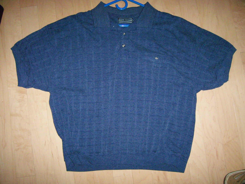 Polo Shirt Black XL By David Taylor  BNK1015