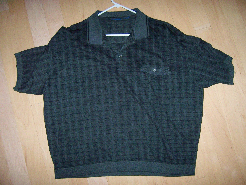 Polo Shirt Black/Dark Grey XXL By David Taylor  BNK1023