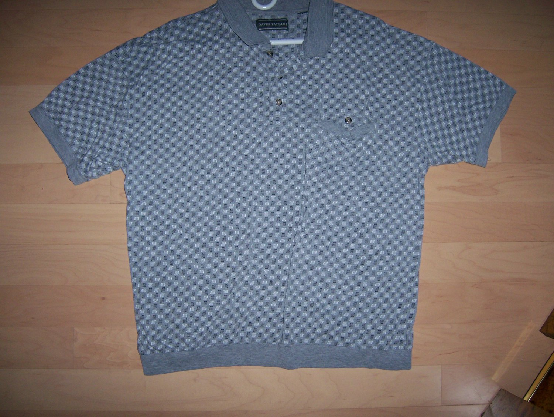 Polo Shirt Grey Black  XXL By David Taylor BNK1025