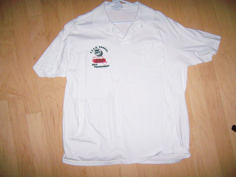 White Golf Tournament Shirt XXL  BNK1027