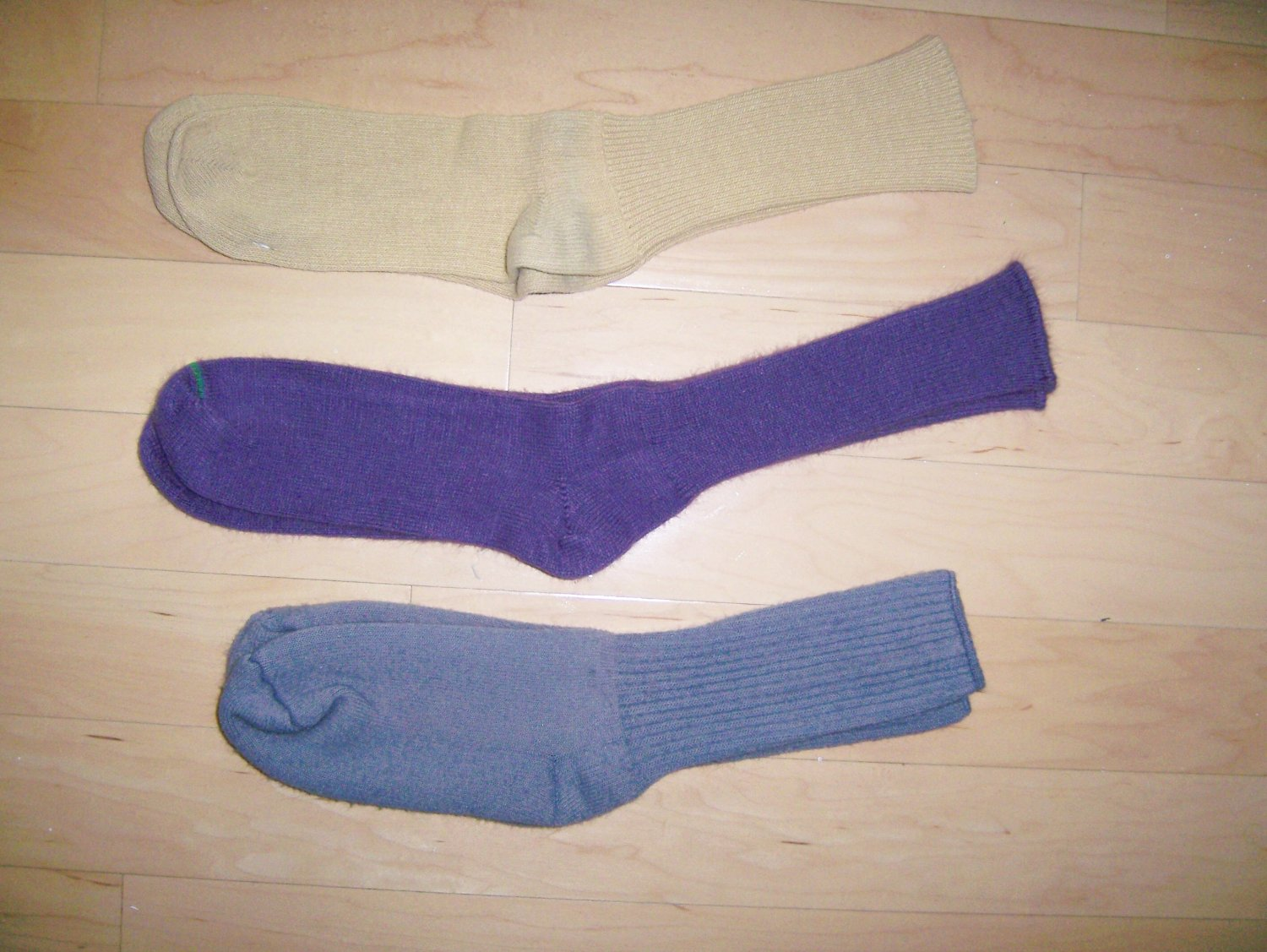 Men's Socks 10-13 Cotton Grey-Purple-GoldBNK1033