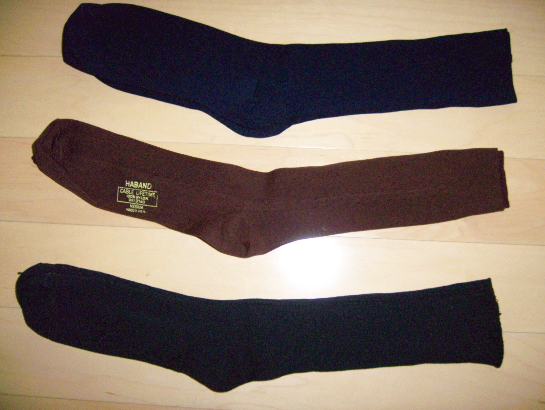 Men's Socks Nylon.Cotton Size 10-13 Navy-Rust-Brown BNK1046