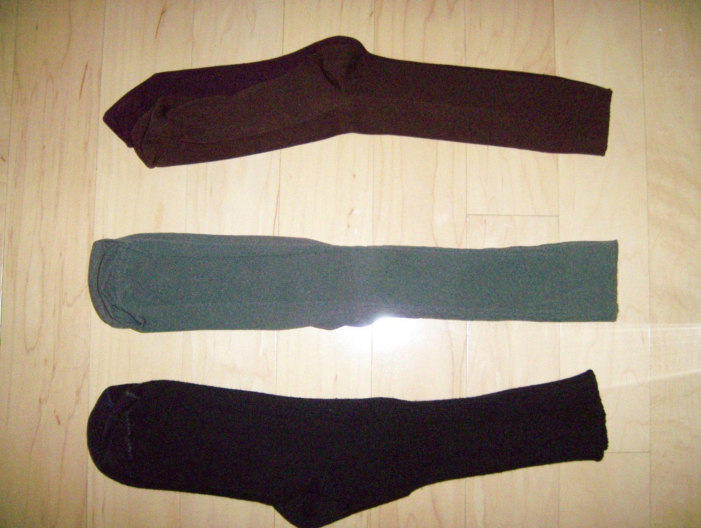 Men's Socks Nylon/Cotton 10-13 Dk Brown-Med Brown-Lt Brown BNK1048