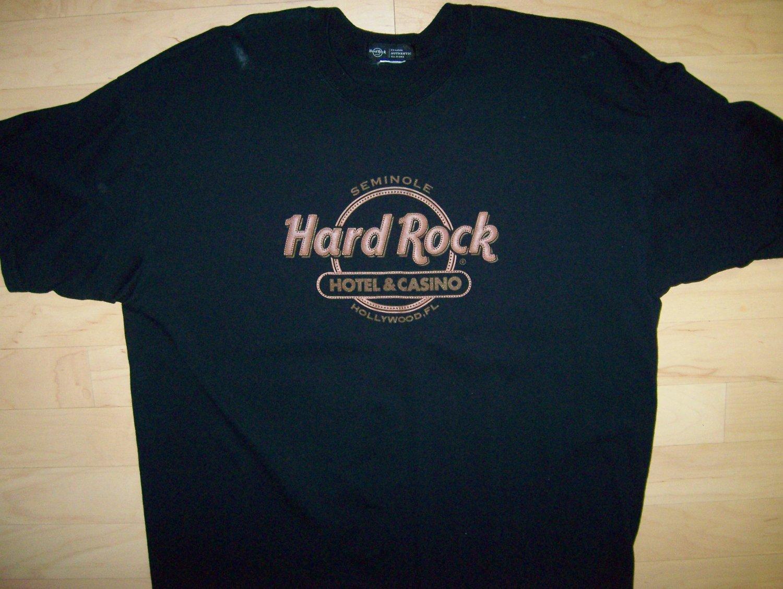 T Shirt Black With Gold Hard Rock Logo 2XL  BNK1060
