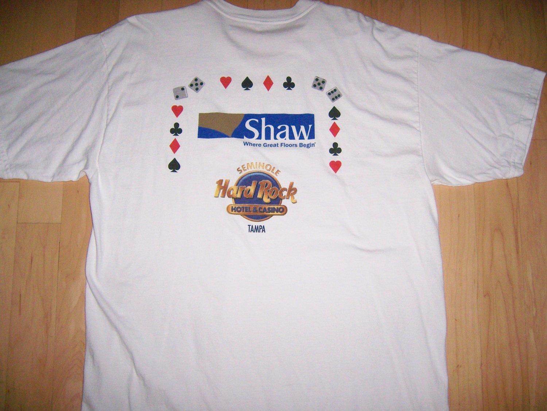 T Shirt White W Shaw.Hard Rock Logo 2XL  BNK1061