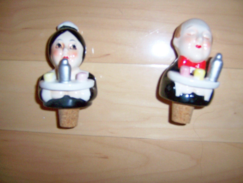 Bottle Toppers Maid & Butler H/D Porcelain  BNK1064