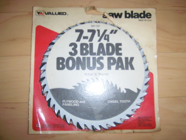 "3 Pack  7""  7 1/4"" Saw Blades  BNK1138"
