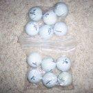 Golf Balls Slightly Used 12 Assorted Top Name BallsBNK1225