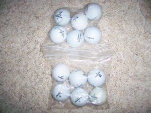 Golf Balls Slightly Used 12 Assorted Top Name BallsBNK1225