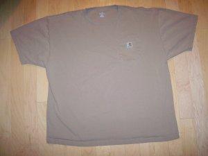 Men's XXL T Shirt W Pocket XXL  Tan   BNK1334