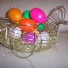 Wire Hen W Hollow Eggs  BNK1373