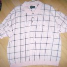 Men&#39;s Short Sleeve Polo Pink w Black Checked XXL BNK1380