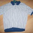 Men's Short Sleeve Polo Shirt Creame w Grey Design BNK138`