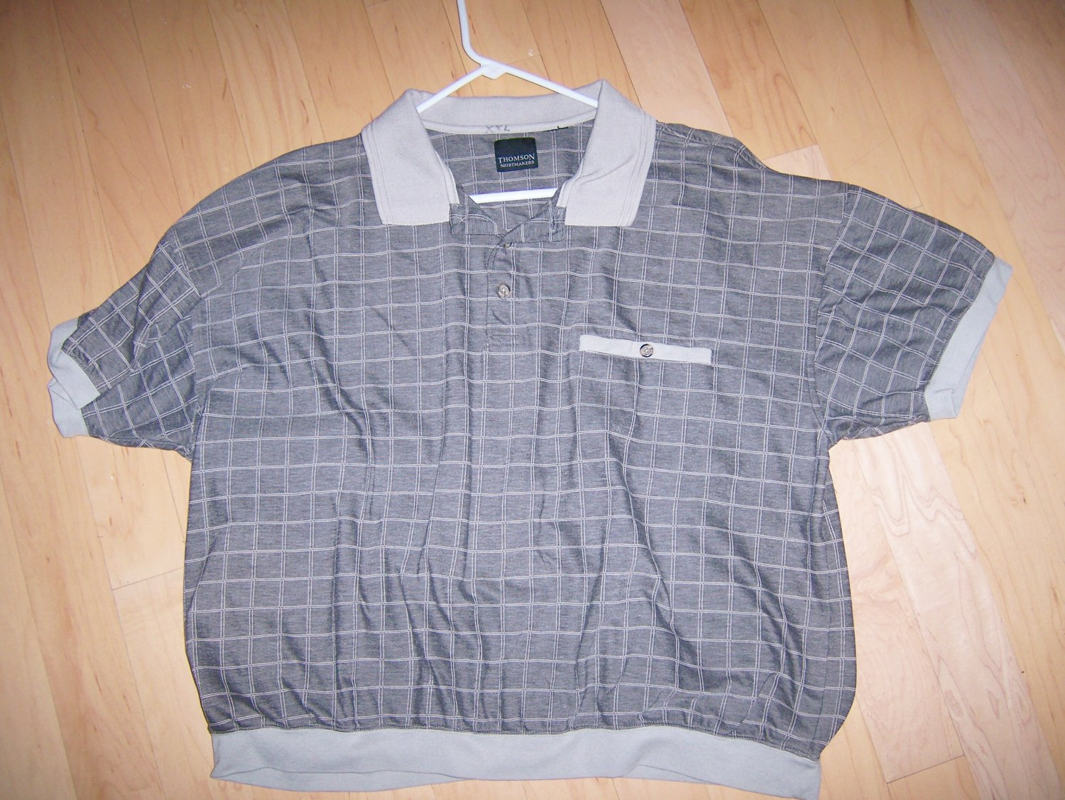 Men's Short Sleeve XXL Grey Polo Shirt BNK1383